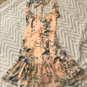Lulus floral mini dress ruffle flounce summer